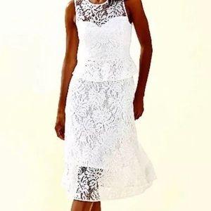 NWT Lilly Pulitzer White Nolea Midi Dress Size 6
